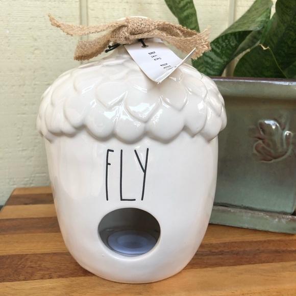 """Rae Dunn """"FLY"""" Acorn Birdhouse"""